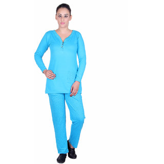 Sticky Blue Printed Nightwear Sets
