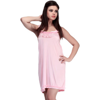 Belle Nuits Solid Pink Nighty
