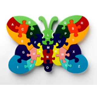 BUTTERFLY STACKING assemble WOODEN PUZZLE FOR ENGLISH ALPHABET KNOWLEDGE
