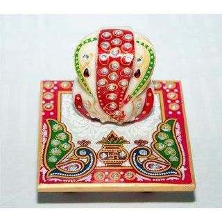 Ages Art Marble Chowki Ganesh