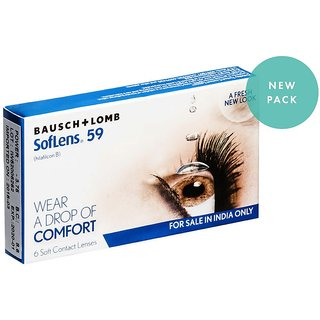 SOFTLENS59-MONTHLY DISPOSABLE-6 LENS PACK -5.00