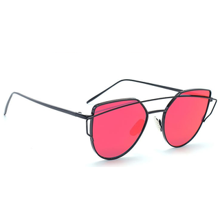 Mark Miller Red Mirrored Women Aviator Sunglass
