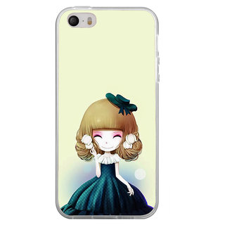 ifasho Winking Girl with green Cap Back Case Cover for Apple Iphone 4