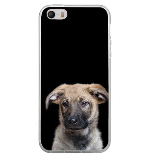 ifasho Grey Dog Back Case Cover for Apple Iphone 4