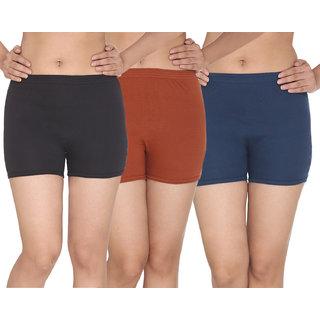 Top Undrgarments Multicolor Plain Pantie 3 Pcs Combo