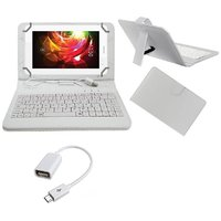 7inch Keyboard For Celkon Diamond 4G Tab7 Tablet- White With OTG Cable By Krishty Enterprises