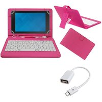 7inch Keyboard For Celkon Diamond 4G Tab7 Tablet- Pink With OTG Cable By Krishty Enterprises