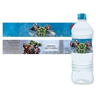 Marvel Avengers Water Bottle Labels