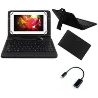 7inch Keyboard For Honor T1 7.0 Tablet - Black With OTG Cable By Krishty Enterprises