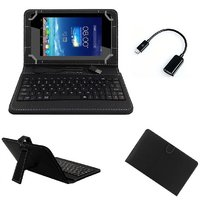 7inch Keyboard For HCL ME Connect 2G Tablet - Black With OTG Cable By Krishty Enterprises