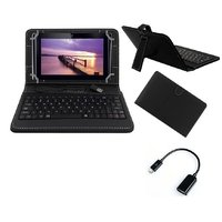 7inch Keyboard For IBall 3G 7345Q-800 Tablet - Black With OTG Cable By Krishty Enterprises
