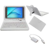 7inch Keyboard For HP 7 G2 1311 Tablet - White With OTG Cable By Krishty Enterprises