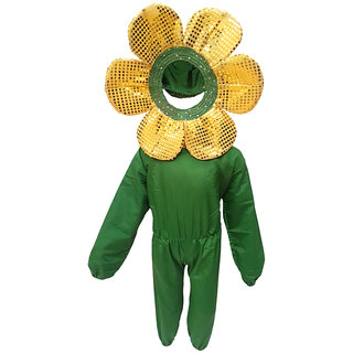 KFD-Yellow flower fancy dress for kids,Nature Costume for annual function/theme party /Stage Shows/competition/Birthday Party Dress