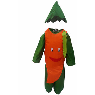 KFD-Smily Carrot fancy dress for kids,Fruits Costume for Annual function/Theme Party/Competition/Stage Shows/Birthday Party Dress