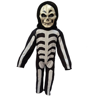 KFD-Skeleton fancy dress for kids,Halloween Costume for Annual function/Theme Party/Competition/Stage Shows/Birthday Party Dress