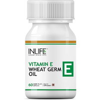 INLIFE Vitamin E 400 IU Wheat Germ Oil, 60 Capsules For Hair Fall  Acne Marks