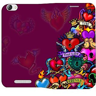 Snooky Printed Flip Cover Case for Lava A72