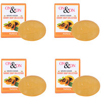 On On Natures Luxury Papaya Soap Combo Pack of 4