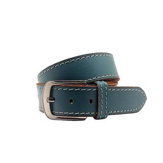 Urban Vintage Blue Leatherite Belt For  Men