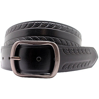 Urban Vintage Black Leatherite Belt For  Men