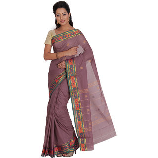 Platinum Present Purple Color Zari Work Pure Cotton Saree Without Blouse Piece
