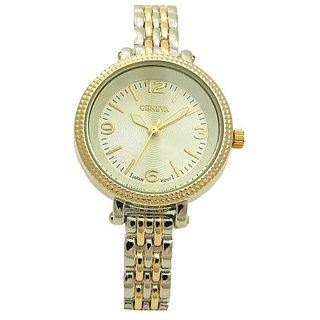 Stainless Steel Two Tones Women Japanese Movement Delicacy Dress Watch