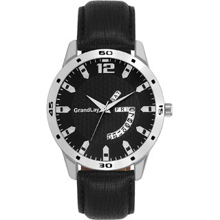 GRANDLAY MG-3031 BLACK DIAL WITH DATE AND TIME