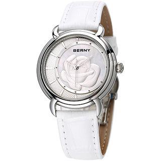 Berny Quartz Analog Watch,2764L-B,Women,white dial