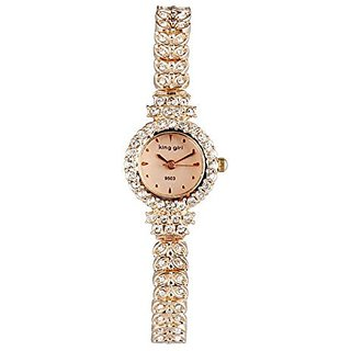 ShoppeWatch Ladies Wrist Watch Petite Bling Crystals Rose Gold Tone Bracelet Reloj Dama SW9503RSRS