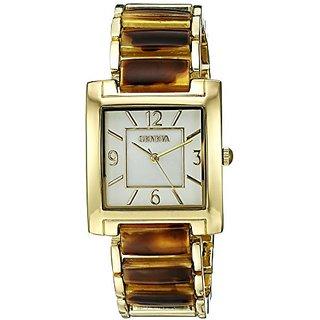 Geneva Womens FMDJT105B Analog Display Japanese Quartz Brown Watch