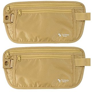 The Friendly Swede Money Belt, Travel Wallet (2 Pack) Khaki
