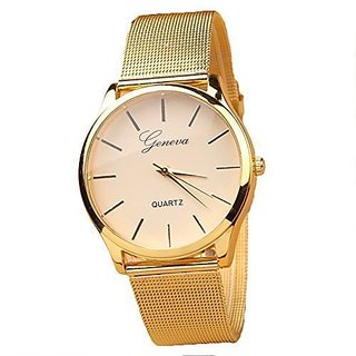ALPS Geneva Womens Fashion Gold Quartz Analog Wristwatches