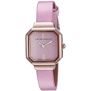Laura Ashley Womens LA31004PK Analog Display Japanese Quartz Pink Watch