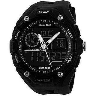 SKMEI Mens SK1015A Outdoors Multifunction Digital Watch Black