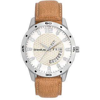 GRANDLAY MG-3032 WHITE DIAL WITH DATE AND TIME