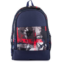Rocks Blue Fabric Casual Backpacks