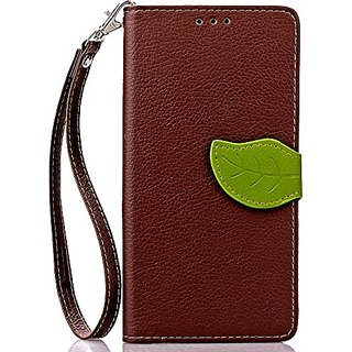 FLYEE Samsung Galaxy S7 Edge Case Wallet Leaf Magnetic Snap Ultra Slim Lightweight PU Flip Cover with Wrist Strap for 5.