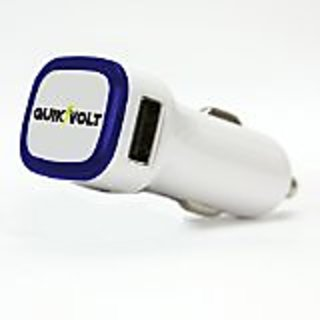 QuikVolt Dual Port USB Car Charger for Apple and Android Devices