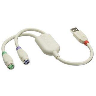 LINDY USB to PS/2 Converter Cable (42866)