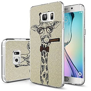 IWONE Galaxy S7 Edge Case Slim Fit Protective Cover funny animal art design