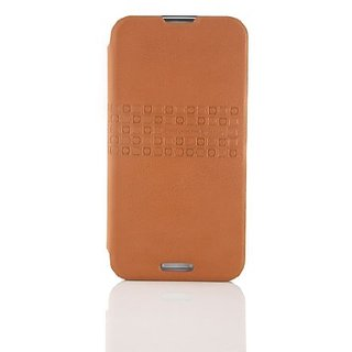 VOIA SG-LT530ORG Premium Synthetic Leather Case for LG Optimus G Pro - 1 Pack - Retail Packaging - Orange