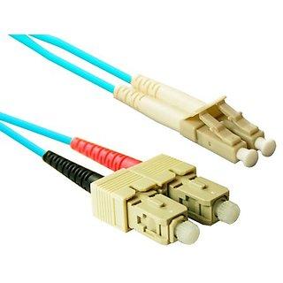 CP Technologies LC to SC Multi Mode Duplex 10Gb/s Laser Optimized 50/125 Micron Optical Fiber Cable (CL-LCSC-02-10G)