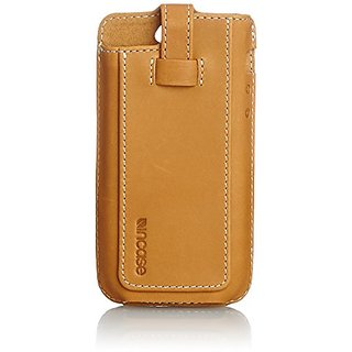 Incase Leather Fitted Sleeve for iPhone 5s/5c - Retail Packaging - Brown/Tan