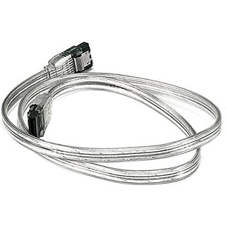 eDragon 24inch SATA 6Gbps Cable w/Locking Latch - Silver - 2 Pack