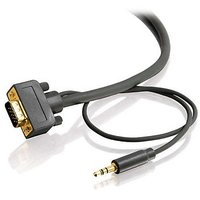 C2g Cables To Go 28252 Flexima Hd15 Uxga  3.5mm Stereo Audio Male Male Monitor Cable 25 Feet 7.62 Meters...