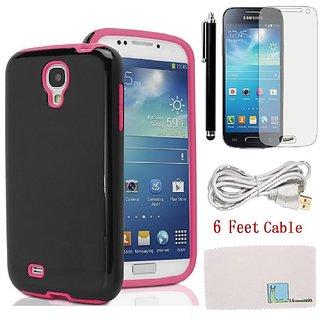 Llamamia 4 Glitter Sparkle Bling Case Cover Protector for Samsung Galaxy S4 Mini S IV Mini I9190 + Stylus Pen + Screen P