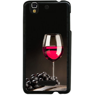 ifasho Wine at Dine Back Case Cover for YU Yurekha