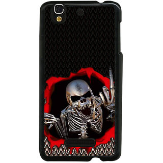 ifasho Modern  Design skeleton Pattern Back Case Cover for YU Yurekha