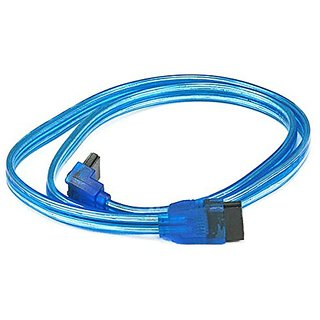 eDragon 24inch SATA 6Gbps Cable w/Locking Latch (90 Degree to 180 Degree) - UV Blue - 20 Pack