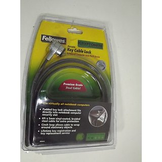 Fellowes Mega Key Cable Lock-8MM Notebk Computer Anti Theft Device